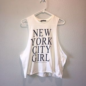 Brandy Melville NEW YORK CITY GIRL Muscle Tank Top